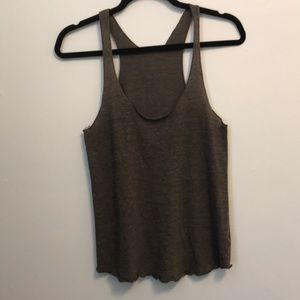 Brown racer back tank top. American Apparel. Small